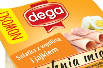 Salad with cold meats and egg 140g :A new salads line in Dega offer