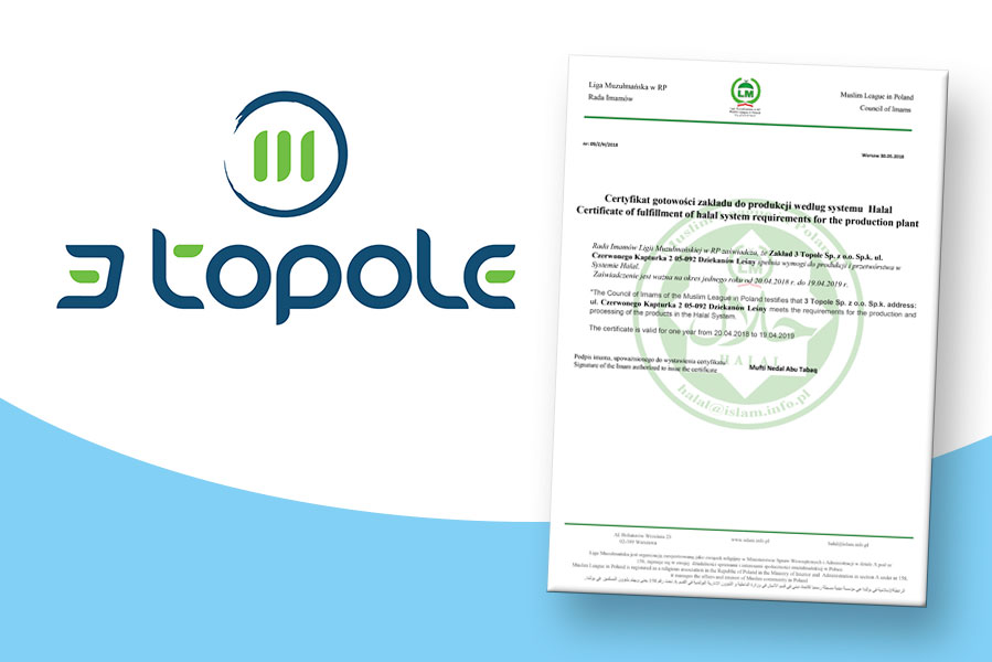 3 Topole company was granted Halal Certificate!