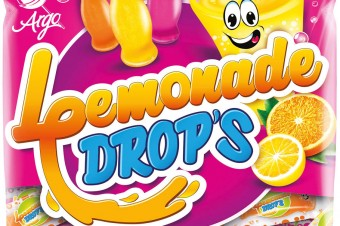 Lemonade Drops, Candies filled with fizzy filling, 90g