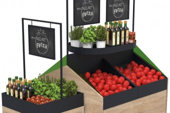 Fruits & vegetables display – island